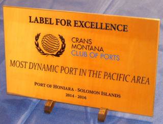 label d'excellence, label for excellence, honiara port, solomon islands, manetoali, dynamic port, pacific area, jean-paul carteron, pierre-emmanuel quirin, crans montana forum, club of ports, club des ports, african women's forum femme africaine, monaco ambassadors club, monte-carlo, new leaders for tomorrow, nouveaux leaders du futur, NATO, OTAN, OMAOC, MOWCA, UASC, UCCA, PMAESA, PMAWCA, AGPAEA, AGPAOC