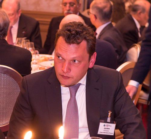 Pierre-Emmanuel Quirin, Jean-Paul Carteron, Crans Montana Forum, Cercle des Ambassadeurs à Paris