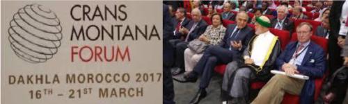 Jean-Paul Carteron, Dakhla, Crans Montana Forum