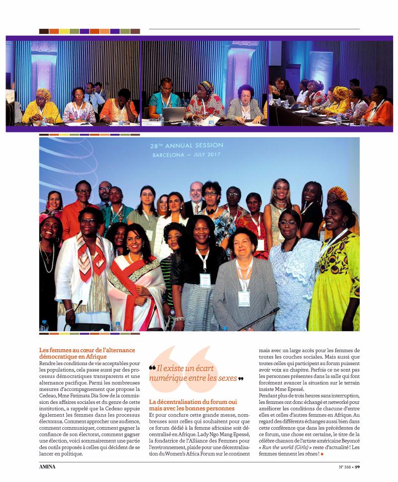 Crans Montana Forum, Jean-Paul Crateron, Amina, CMF, African Women's Forum