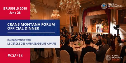 CMF, Crans Montana Forum, Cercle des Ambassadeurs à Paris, Jean-Paul Carteron