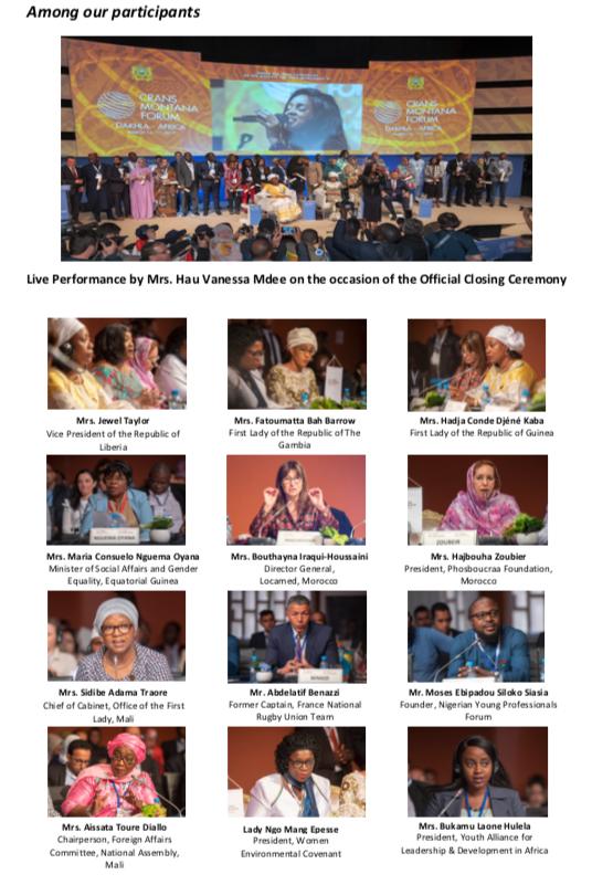 AWF, African Women's Forum, CMF, Crans Montana Forum