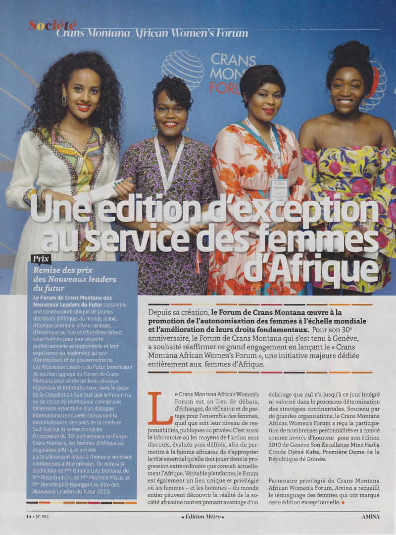 20191001 - AMINA n°592 - African Women's Forum_page-0001