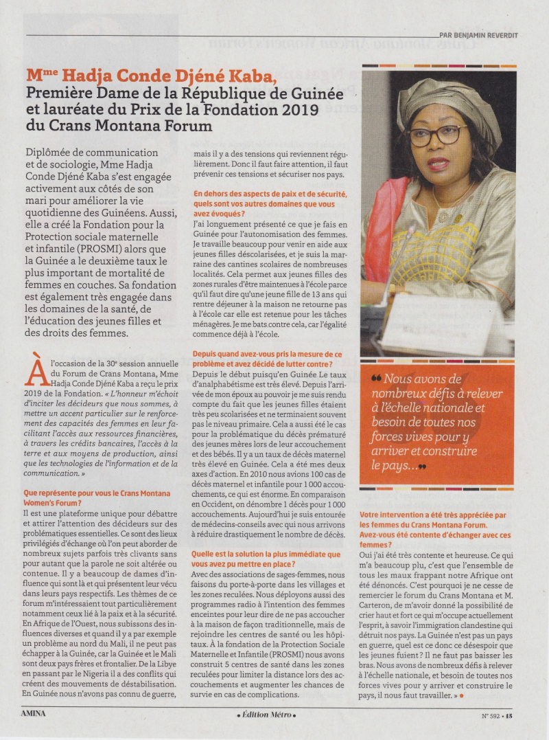 20191001 - AMINA n°592 - African Women's Forum_page-0002